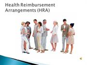 Health Reimbursement Arrangements (HRA)