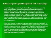 Making it big in Hospital Management with Janine Zargar
