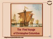 the first voyage of christopher columbus