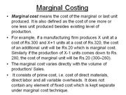 Marginal Costing