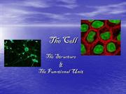 cell  structure  &  functional units