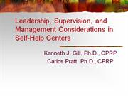 leadership, supervision, and management considerations in