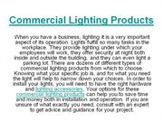 Commercial Light Products
