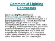 Commercial Lighting Contractors