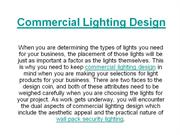 Commercial Lighting Design