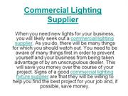 Commercial Lighting Supplier