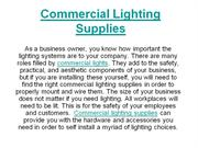 Commercial Lighting Supplies