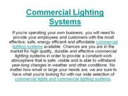 Commercial Lighting Systems