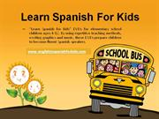 spanish for kids to  learning spanish at home