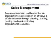 Sales Management PPT 1