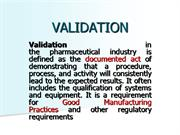 validation protocol