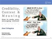 Credibility Context  Meaning-Livingston.