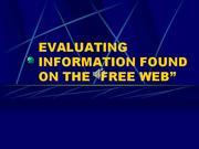 WEBSITE EVALUATION POWERPOINT music