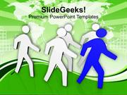 LEADERSHIP COMMANDING THE PEOPLE LEADERSHIP PPT TEMPLATE