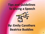 Tips for give a 4-H Speech