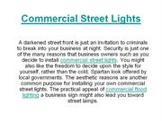 Commercial Street Lights