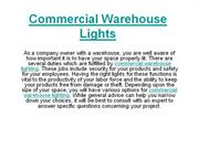 Commercial Warehouse Lights