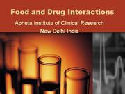 Food and Drug Interaction