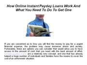 Getting An Online Payday Loan: How It Works