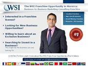 Business to Business Franchise Opportunity Maroc