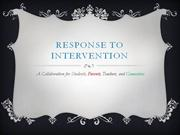 RESPONSE TO INTERVENTION (power point)
