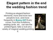 elegant pattern in the end the wedding fashion trend
