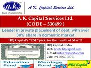 AK Capital Services Ltd - CSF Stock for March 2011