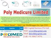 HBJ Capital - Street Smart Report for Apr'10 - Poly Medicure Ltd