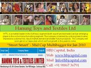 HBJ Capital - Street Smart Report for Jan'10 - Hanung Toys and Textile