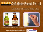 Printing Labels by Craft Master Navi Mumbai