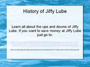 the history of jiffy lube