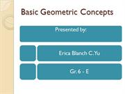 basic geometric concepts