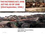 THE FACTORIES ACT1948 PPT