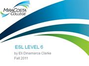 Term 1 ESL Level 6