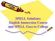 english immersion course