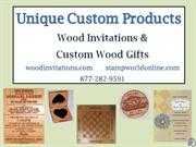 engraved wood choices- unique custom products