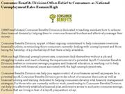 consumer benefits division offers relief to consumers as national