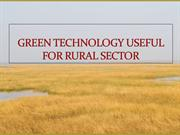 GREEN TECHNOLOGY USEFUL FOR RURAL SECTOR BY GREEN YATRA