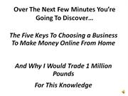 'Choosing a Business'  Home Based Internet Business