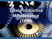 Total Productive Maintenance (TPM) by Allan Ung