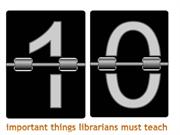 10 Things Teacher Librarians Should Teach This Year!
