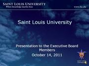 Saint Louis University Organization Culture