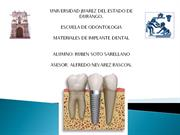 MATERIALES DE IMPLANTE DENTAL