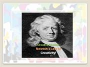 Newton's law of creativity