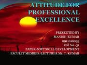 ATTITUDE FOR PROFESSIONAL EXCELLENCE