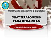 TERATOGENIC DRUGS IN PREGNANCY DARMA