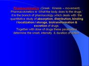 Pharmacokinetics-1( Absorbtion of drug) & prolongation of drug action
