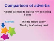 Comparison of adverbs