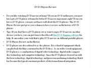 DVD Players Review