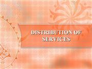distribution of services